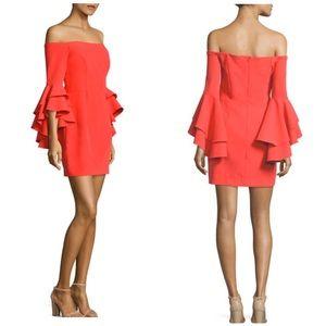 Milly Italian Cady Off Shoulder Dress